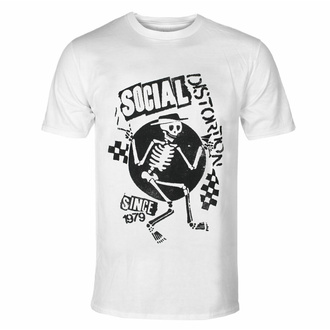 Herren-T-Shirt Social Distortion - Speakeasy Checkerboard WHT - ROCK OFF, ROCK OFF, Social Distortion