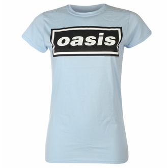 Frauen-T-Shirt Oasis - Decca Logo  - Himmel Blau, NNM, Oasis