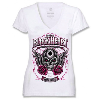 Damen T-Shirt Street - ROYAL - BLACK HEART, BLACK HEART