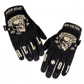 Handschuhe BLACK HEART - RIOTER - SCHWARZ, BLACK HEART