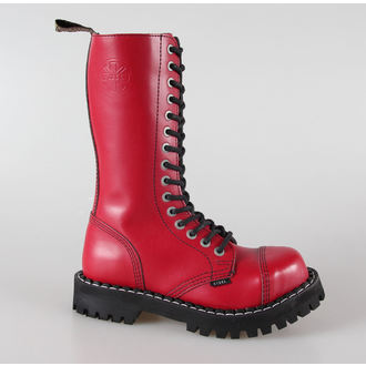 Boots STEEL Springerstiefel -15 Loch rot bunt (135/136 Full Red), STEEL