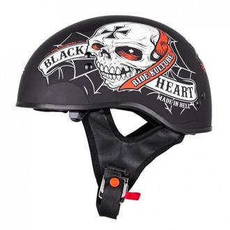 Helm BLACK HEART - CRUSTY DEMONS - SCHWARZ, BLACK HEART