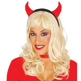 HALLOWEEN Stirnband RED SHE DEVIL, NNM