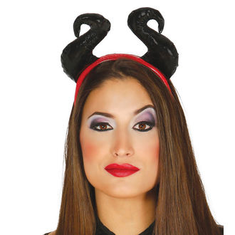 HALLOWEEN Stirnband BLACK HORNS, NNM