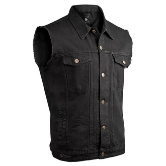 Herren Weste CAPRICORN ROCKWEAR - black with frayed arms, CAPRICORN ROCKWEAR