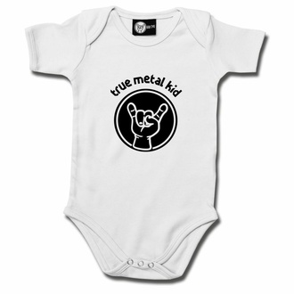 Babybody True metal kid - Weiß - Schwarz, Metal-Kids
