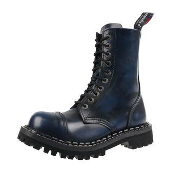 Unisex Lederstiefel Boots - STEADY´S - STE/10_blue/black