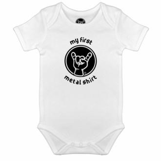 Babybody My first metal shirt - Weiß - Schwarz, Metal-Kids