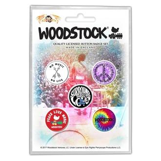 Buttons WOODSTOCK - SURROUND YOURSELF WITH LOVE - RAZAMATAZ, RAZAMATAZ