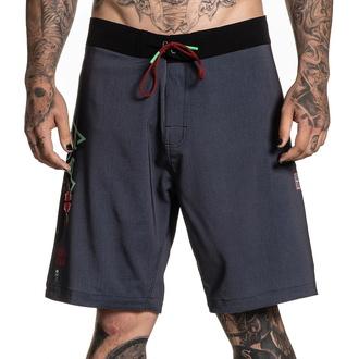 Herren Shorts (Badeshorts) SULLEN - RIGIONI SKULL - GRAU / Teal, SULLEN