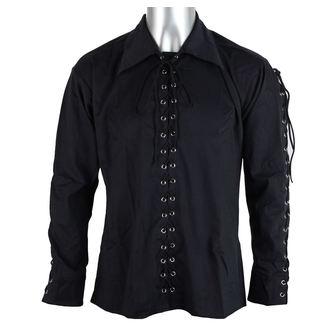 Herrenhemd Black Pistol - Eyelet Hemd Black Denim, BLACK PISTOL