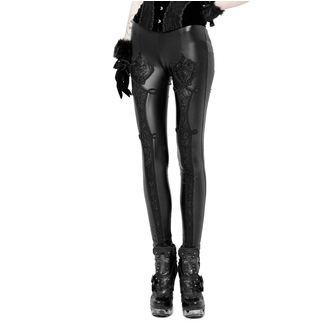 Damen Leggings PUNK RAVE - Black Soiree Gothic, PUNK RAVE