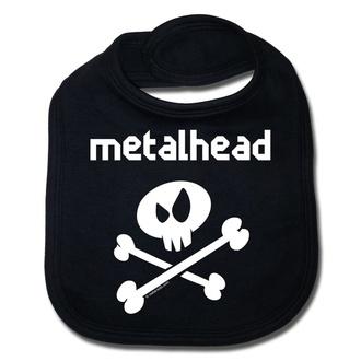 Lätzchen Metalhead weiß - black - Metal-Kids, Metal-Kids