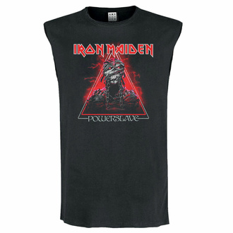 Unisex Tanktop IRON MAIDEN - RED POWERSLAVE - CHARCOAL - AMPLIFIED, AMPLIFIED, Iron Maiden