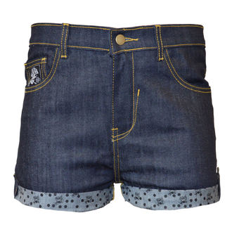 Damen Jeans Shorts BLACK HEART - MARK BLUE, BLACK HEART
