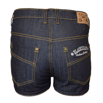 Damen Jeans Shorts BLACK HEART - OUTLOW, BLACK HEART
