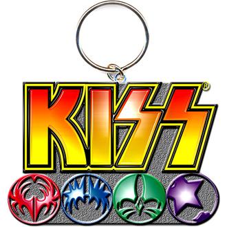 Schlüsselring - Anhänger  KISS (Logo & Icons) - ROCK OFF, ROCK OFF, Kiss