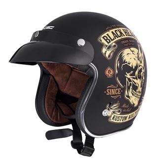 Helm BLACK HEART - DEVIL SKULL - SCHWARZ, BLACK HEART
