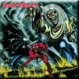 Magnet Iron Maiden - Number Of The Beast Fridge Magnet - ROCK OFF, ROCK OFF, Iron Maiden