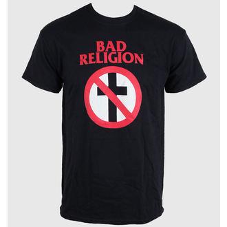 Herren T-Shirt Bad Religion - Crossbuster Black, LIVE NATION, Bad Religion