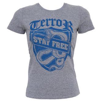 Damen T-Shirt  Terror - Stay Free, Buckaneer, Terror