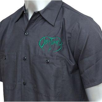 Herrenhemd   Obituary - EMB Logo - Grn/Charcoal - JSR, Just Say Rock, Obituary