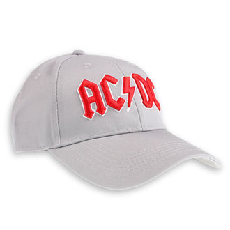 Kappe Cap AC / DC - Red Logo Grey - ROCK OFF, ROCK OFF, AC-DC