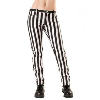Damenhose Black Pistol - Close Pants Streifen Schwarz/Weiß, BLACK PISTOL
