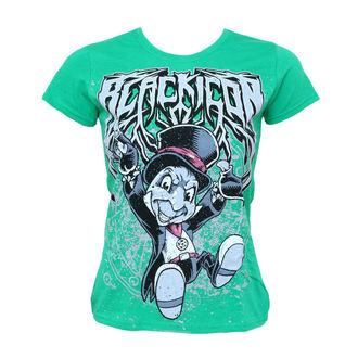 Damen T-Shirt  BLACK ICON - Cricket - Green, BLACK ICON