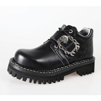 Lederstiefel/Boots KMM 4-Loch - Big Skulls Black Full, KMM