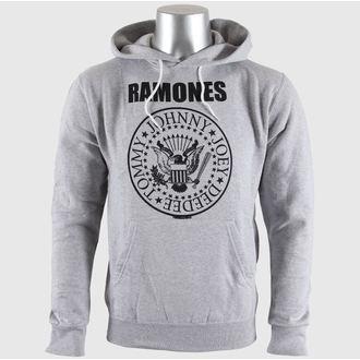 Herren Hoodie  Ramones - Seal Logo Gry