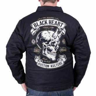 Herren Jacke BLACK HEART - DEVIL SKULL - SCHWARZ, BLACK HEART