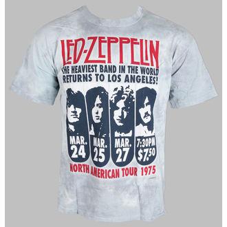 Herren T-Shirt Led Zeppelin - Zeppelin LA 1975 - LIQUID BLUE - 11813