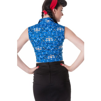 Bluse Damen HELL BUNNY - Bandana - Blu, HELL BUNNY