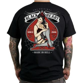 Herren T-Shirt Street - MISS PIN UP - BLACK HEART, BLACK HEART