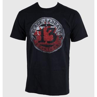 Herren T-Shirt Black Sabbath - 13 Flame Circle - Black - ROCK OFF - BSTS07MB