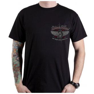 Herren T-Shirt Street - RED BARON CHOPPER - BLACK HEART, BLACK HEART