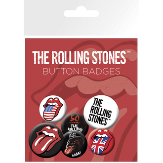 Button Badge Set The Rolling Stones - Lips, NNM, Rolling Stones