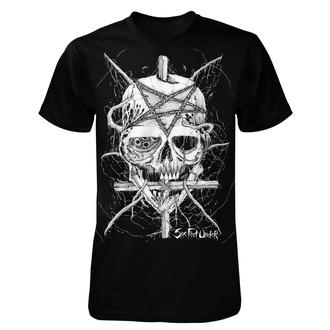 Herren T-Shirt Metal Six Feet Under - Penta Skull - ART WORX, ART WORX, Six Feet Under