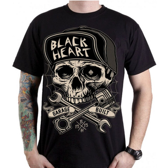 Herren T-Shirt Street - GARAGE BUILT - BLACK HEART, BLACK HEART