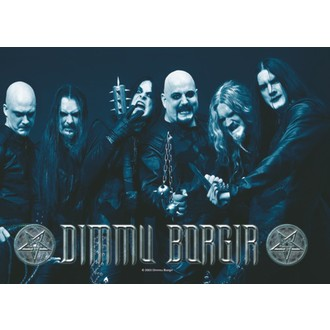 Fahne Dimmu Borgir - Band Foto , HEART ROCK, Dimmu Borgir