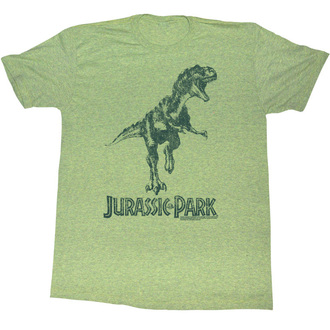 Herren T-Shirt Jurassic Park - Green T-Rex - AC, AMERICAN CLASSICS, Jurassic Park