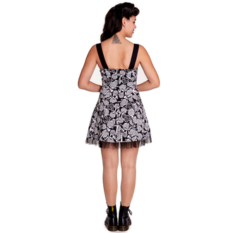 Damen Kleid HELL BUNNY - Avalon Mini - BLK/WHT, HELL BUNNY