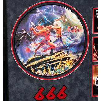 LP mit Unterschrift IRON MAIDEN - Number Of The Beast, ANTIQUITIES CALIFORNIA, Iron Maiden
