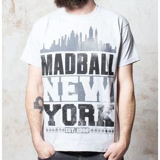 Herren T-Shirt Madball - Skyline - Heather Grey, Buckaneer, Madball