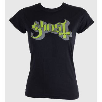 Damen T-Shirt  Ghost - Keyline Logo - Green Grey - ROCK OFF, ROCK OFF, Ghost