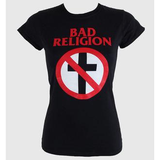 Damen T-Shirt  Bad Religion - Cross Buster - Black - KINGS ROAD, KINGS ROAD, Bad Religion