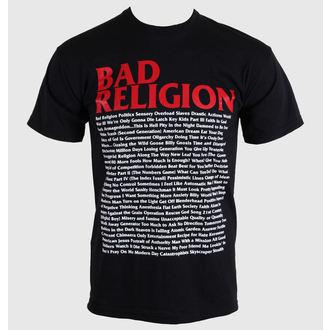 Herren T-Shirt   Bad Religion - Song Mari-Blatt - Black - 00384, KINGS ROAD, Bad Religion