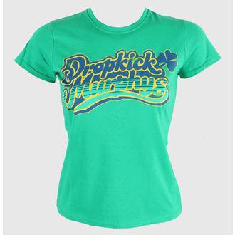 Damen T-Shirt  Dropkick Murphys - Script - Fitted - Green Kelly - KINGS ROAD, KINGS ROAD, Dropkick Murphys