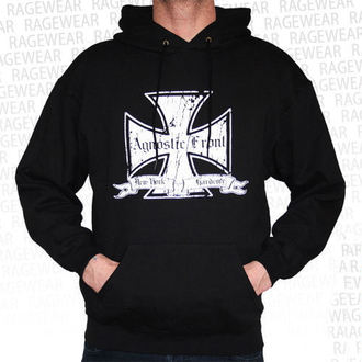 Herren Hoodie  Agnostic Front - Iron Cross - White - RAGEWEAR, RAGEWEAR, Agnostic Front